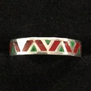 Vintage Navajo Sterling Silver Ring/Band Size 8